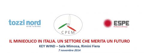 Convegno nazionale CPEM sul minieolico in Italia